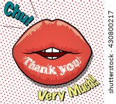 message on the lip  thank you  | Shutterstock .eps vector #430800217