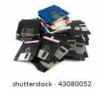 Pile Of Floppy Discs  Isolated...