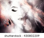 beautiful woman face. abstract... | Shutterstock . vector #430802209