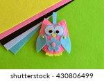 Colourful Patchwork Felt Owl....