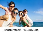 happy family having fun at the... | Shutterstock . vector #430809385