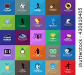 football icon set   isolated on ... | Shutterstock .eps vector #430810405
