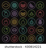 set of quality universal... | Shutterstock .eps vector #430814221