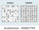 puzzle game with numbers....   Shutterstock .eps vector #430827739
