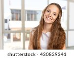 happy smiling beautiful young... | Shutterstock . vector #430829341