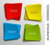 origami paper infographic... | Shutterstock .eps vector #430830631