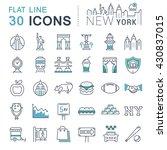 set vector line icons in flat... | Shutterstock .eps vector #430837015