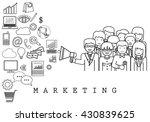 marketing team on white... | Shutterstock .eps vector #430839625