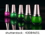 many new nails polish on black... | Shutterstock . vector #43084651