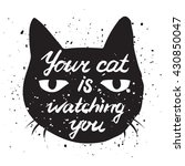 your cat is watching you cat... | Shutterstock .eps vector #430850047