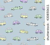retro cars and vans seamless... | Shutterstock .eps vector #430850611