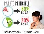 pareto principle or law of the... | Shutterstock . vector #430856641
