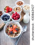 paleo style breakfast  grain... | Shutterstock . vector #430863427