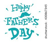 father's day text illustration... | Shutterstock .eps vector #430867345
