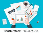 analytic research and report on ... | Shutterstock .eps vector #430875811