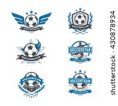 soccer club badge set  football ... | Shutterstock .eps vector #430878934