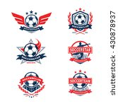 soccer club badge set  football ... | Shutterstock .eps vector #430878937