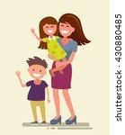 vector illustration of flat... | Shutterstock .eps vector #430880485