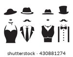 gentleman and lady symbols. man ... | Shutterstock .eps vector #430881274