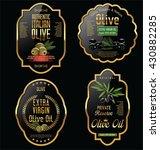 olive oil retro vintage... | Shutterstock .eps vector #430882285