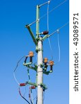 electrical tower on a... | Shutterstock . vector #43089571