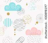 geometric creative colorful... | Shutterstock .eps vector #430898197