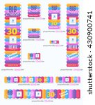 colorful standard 10 sizes... | Shutterstock .eps vector #430900741