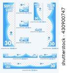 blue colors standard 10 sizes... | Shutterstock .eps vector #430900747