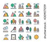 nature  park  plants  trees... | Shutterstock .eps vector #430907059