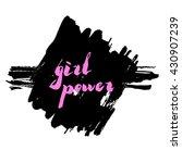 lettering phrase slogan on... | Shutterstock .eps vector #430907239