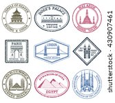 monuments and famous world... | Shutterstock .eps vector #430907461