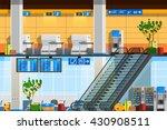 airport terminal flat... | Shutterstock .eps vector #430908511