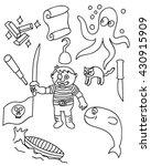 children pirate doodle vector... | Shutterstock .eps vector #430915909