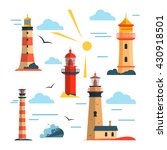 Vector Set Of Lighthouses....