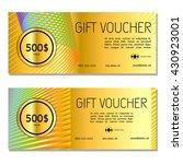 gift voucher. vector ... | Shutterstock .eps vector #430923001