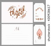 thank you card and gift tags... | Shutterstock .eps vector #430928617