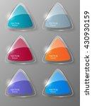 glass framework set. vector... | Shutterstock .eps vector #430930159