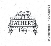 happy father's day typography... | Shutterstock .eps vector #430930915
