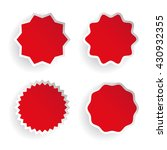 star label vector set red | Shutterstock .eps vector #430932355