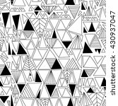 hand drawn triangles seamless... | Shutterstock .eps vector #430937047