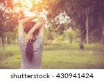 young healthy woman practicing... | Shutterstock . vector #430941424