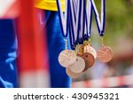 gold  silver and bronze metal... | Shutterstock . vector #430945321
