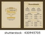 restaurant food menu vintage... | Shutterstock .eps vector #430945705