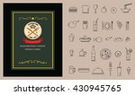 restaurant food menu on... | Shutterstock .eps vector #430945765