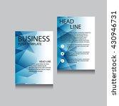 vector brochure flyer design... | Shutterstock .eps vector #430946731