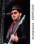 "Small photo of Common People - May 28 2016: Former Supergrass singer Gareth Michael ""Gaz"" Coombes performing live on the main stage at Common People Southampton Festival, Southampton, May 28, 2016 in Hampshire, UK"