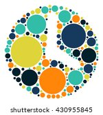 watch shape vector design by... | Shutterstock .eps vector #430955845