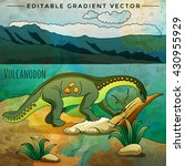 dinosaur in the habitat. vector ... | Shutterstock .eps vector #430955929