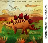 dinosaur in the habitat. vector ... | Shutterstock .eps vector #430956091