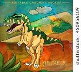 dinosaur in the habitat. vector ... | Shutterstock .eps vector #430956109